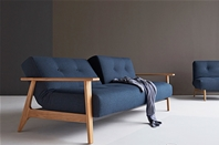 AMPLE Sofa Bed with FREJ Wood Arms