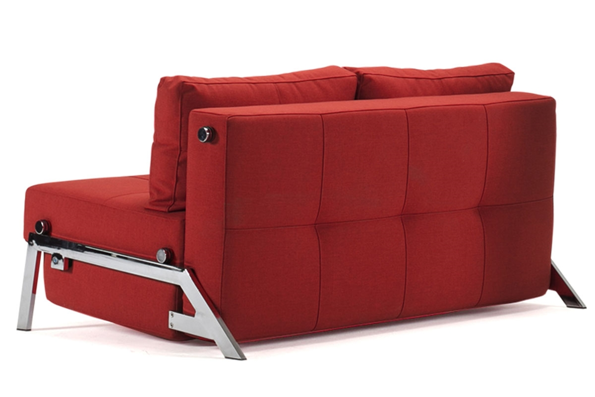 Cubed 160 chrome sofa bed from innovation for Sofa bed 200cm wide