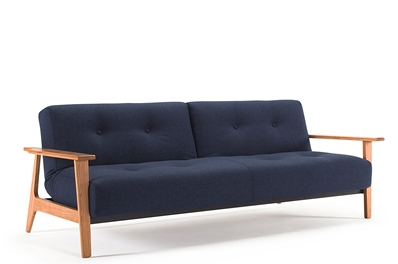 BURI Sofa Bed <br>with FREJ Wood Arms