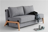CUBED 02 - 140 Danish Sofa Bed - Wood Legs