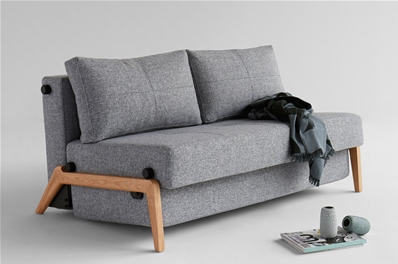 Cubed 140 Wood Sofa Bed From Innovation Denmark