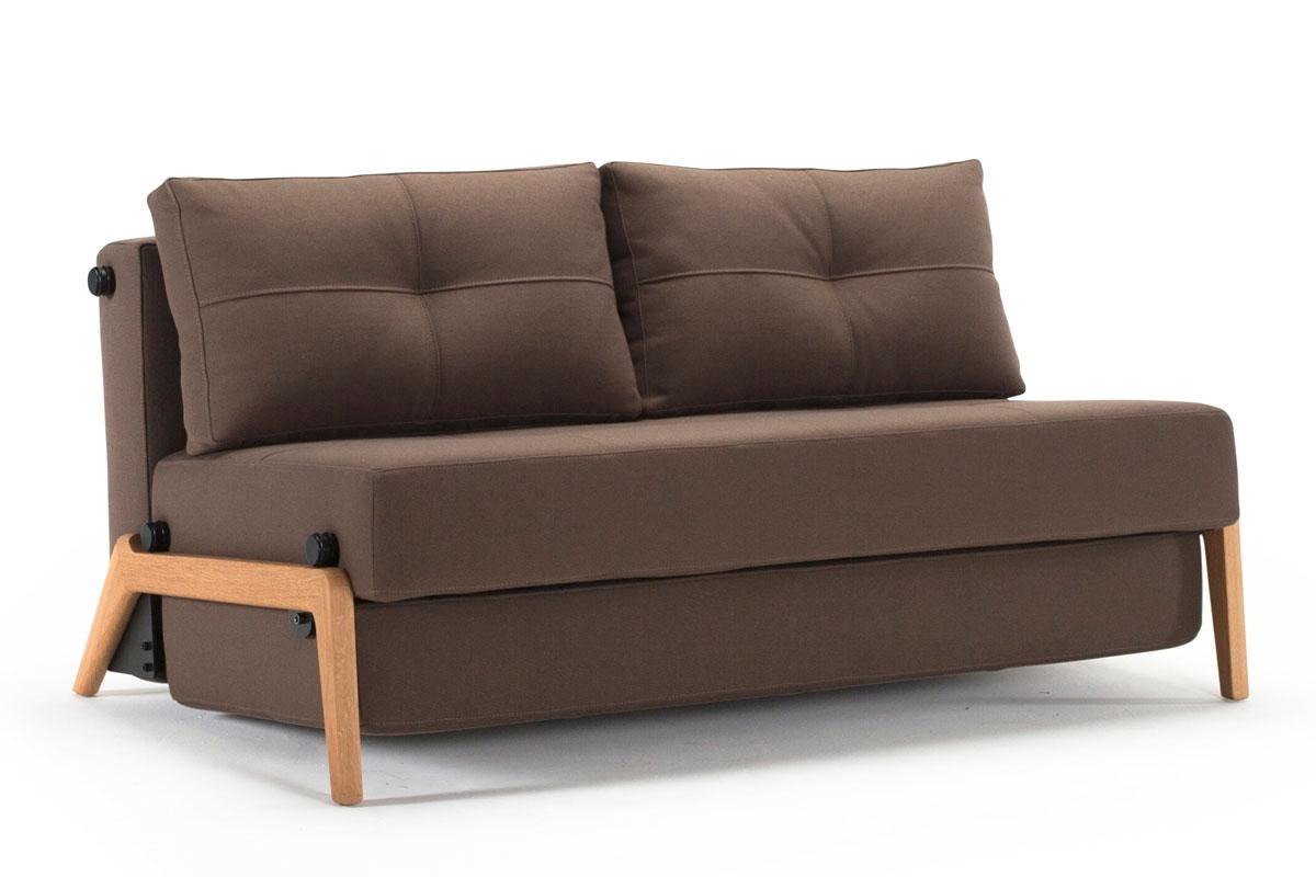 Cubed 02 160 Sofa Bed Wood Legs