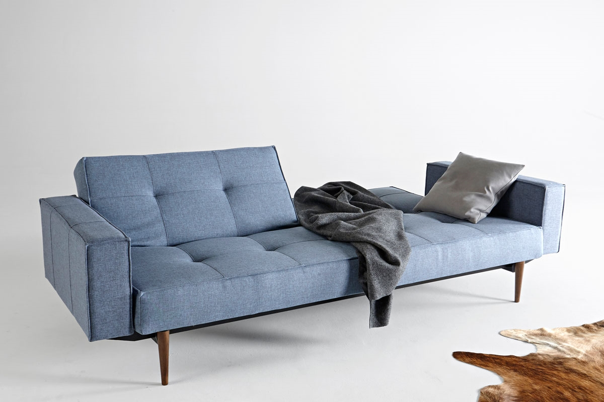 Splitback sofa bed with arms for Sofa bed extension